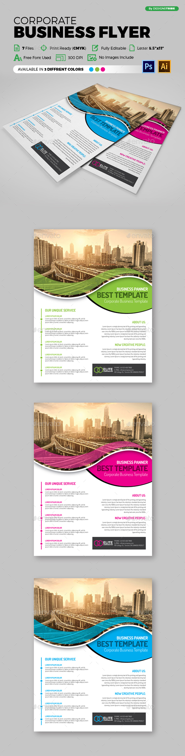Flyer – Multipurpose 128 - Flyers Print Templates