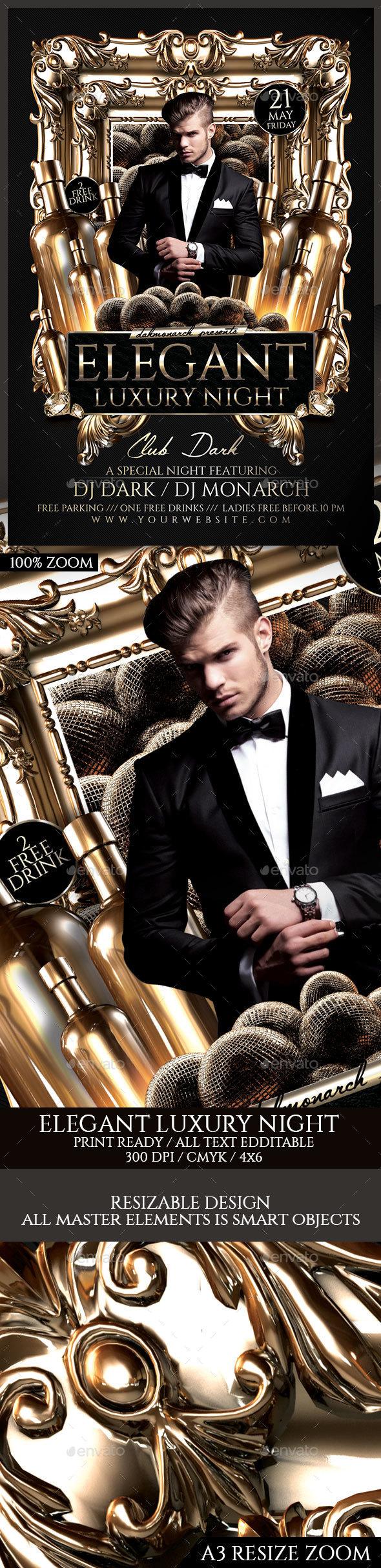 Elegant Luxury Night - Events Flyers