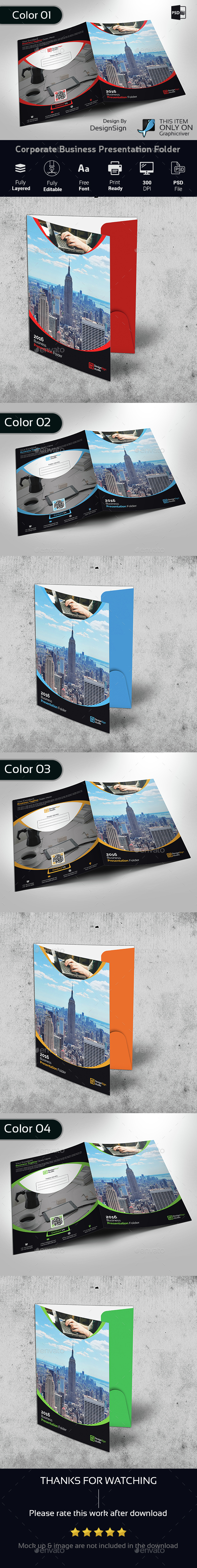 Corporate Business Presentation Folder - Stationery Print Templates