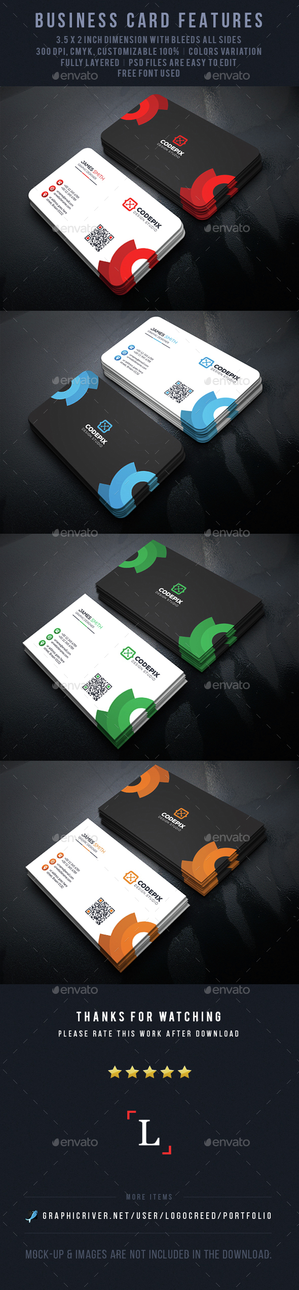 Abstract Business Cards - Business Cards Print Templates