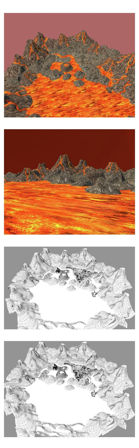 Volcano Valley Low Poly - 3DOcean Item for Sale