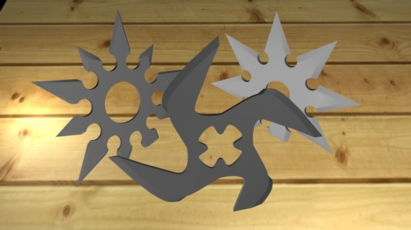 Shurikens pack - 3DOcean Item for Sale