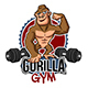 Gorilla Gym Sticker - GraphicRiver Item for Sale