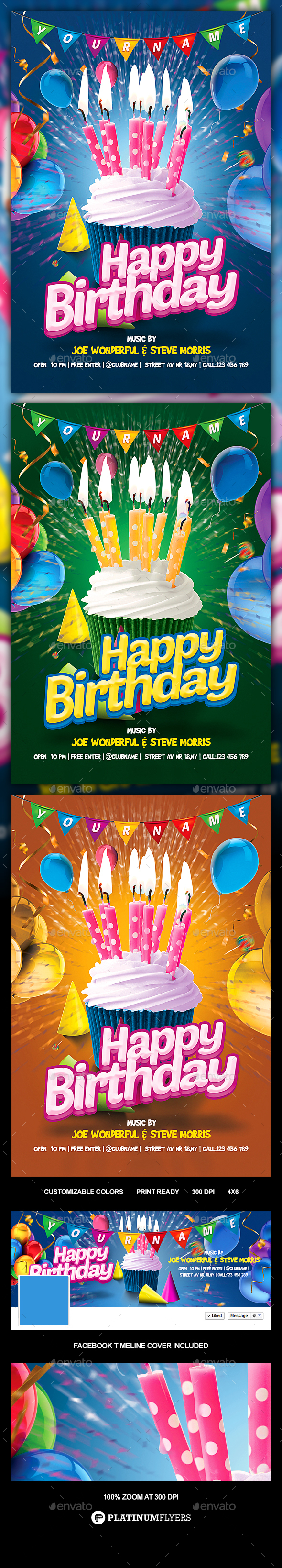 Kids Birthday Flyer / Kids Party Flyer - Print Templates