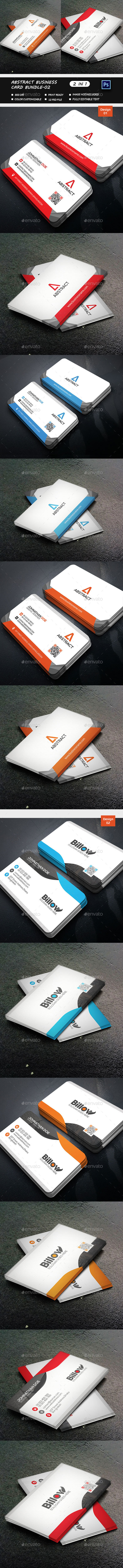 Abstract Business Card Bundle-02 - Business Cards Print Templates