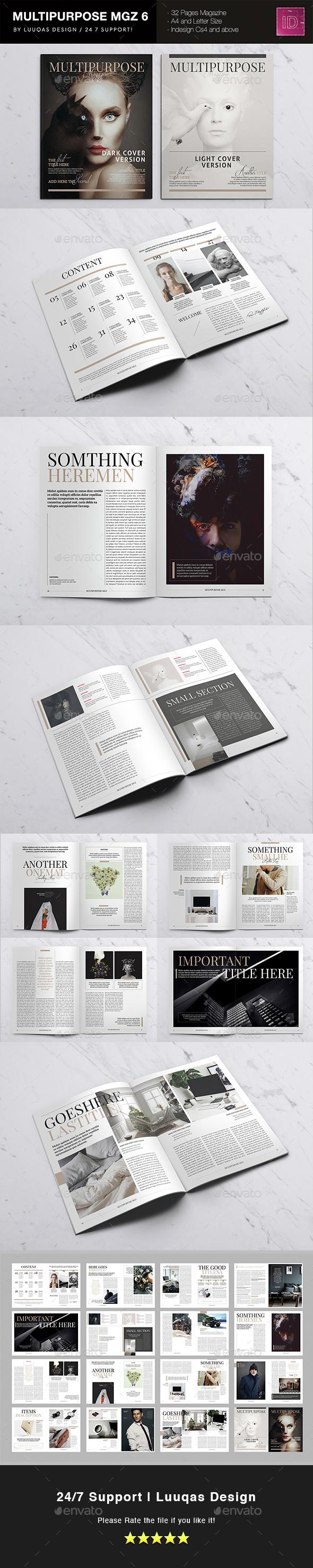 Multipurpose Magazine 6 - Magazines Print Templates