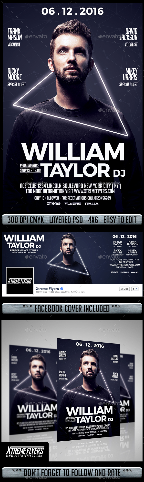 Club DJ Flyer - Clubs & Parties Events