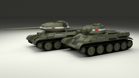 T-34 76/85 Pack - 3DOcean Item for Sale