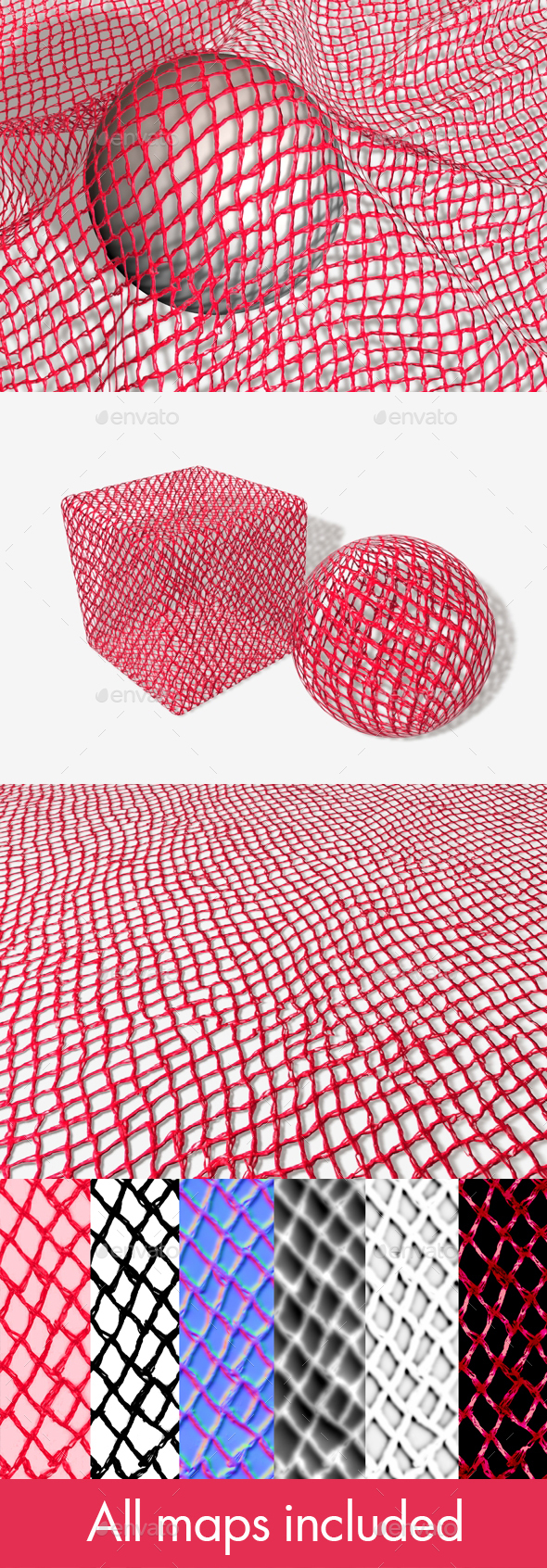 Vegetable and Fruit Net Bag Seamless Texture - 3DOcean Item for Sale