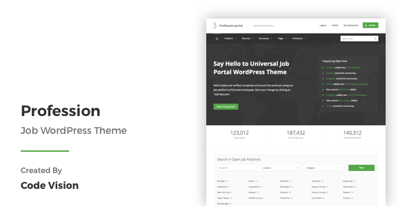 Profession - Job WordPress Theme