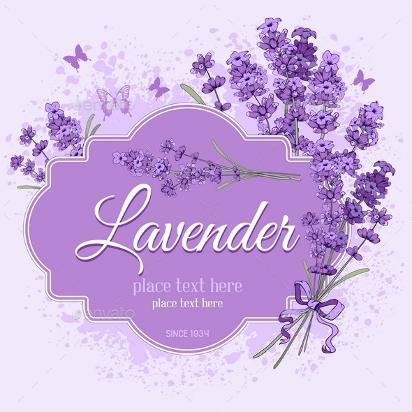 Lavender Label - Backgrounds Decorative