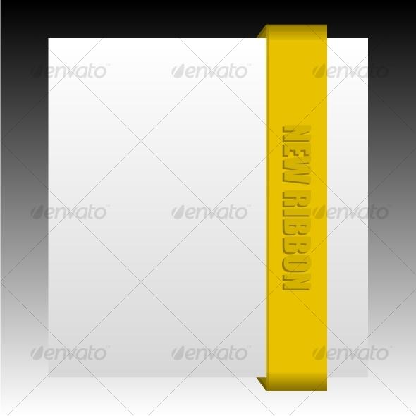 New brown business ribbon - Decorative Symbols Decorative