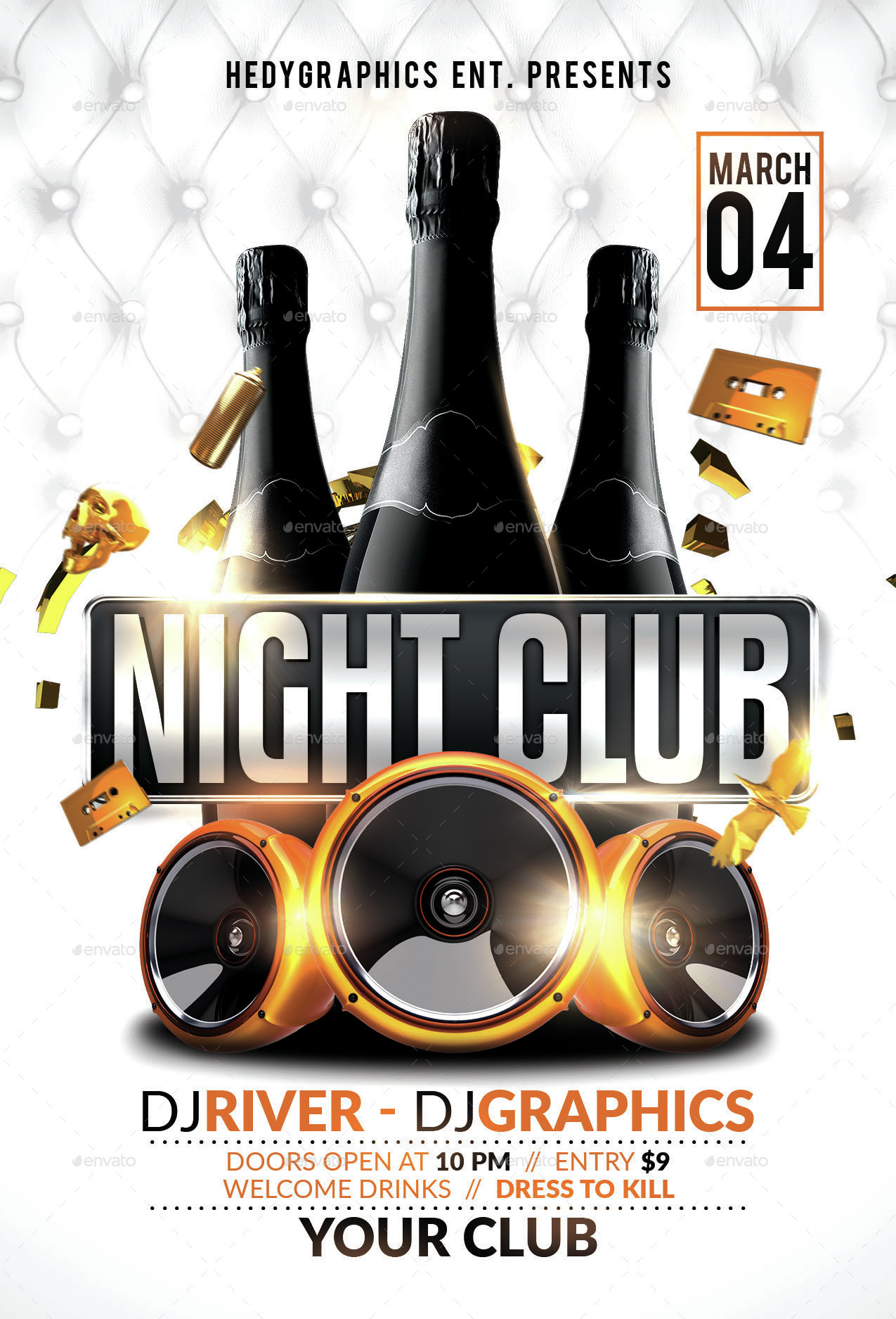 Night Club Flyer Template by HedyGraphics – Night Club Flyer