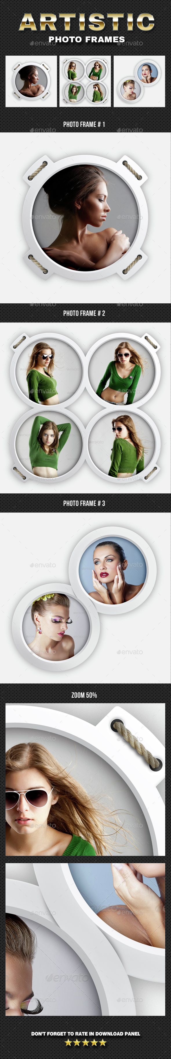 Artistic Photo Frame 05 - Photo Templates Graphics