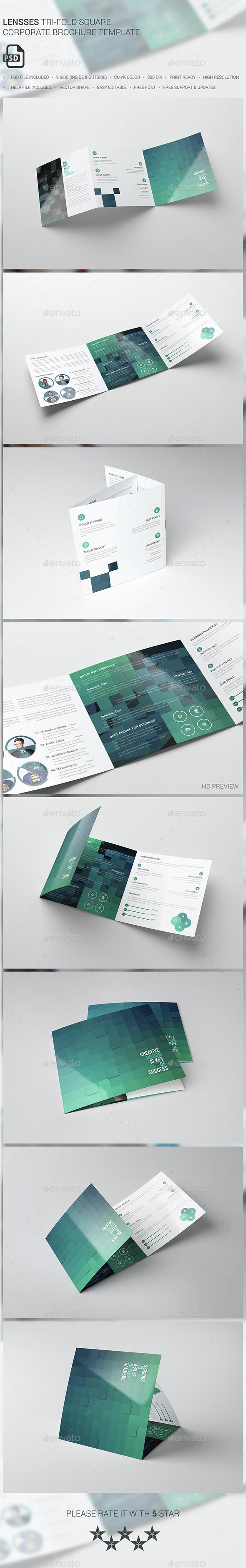 Sencrise Square Tri Fold Brochure Template By Evny Graphicriver