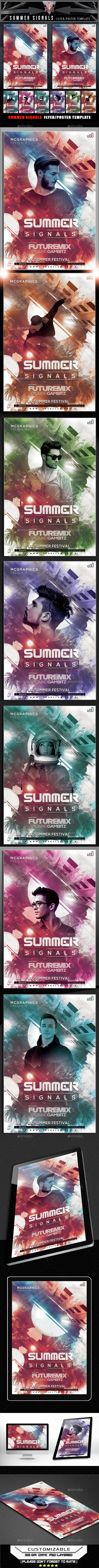 Summer Signals Flyer Template - Clubs & Parties Events