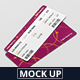 Ticket Mockup - Round Corner - GraphicRiver Item for Sale