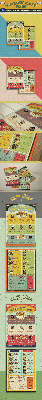 Vintage Cafe Flyer  - Restaurant Flyers