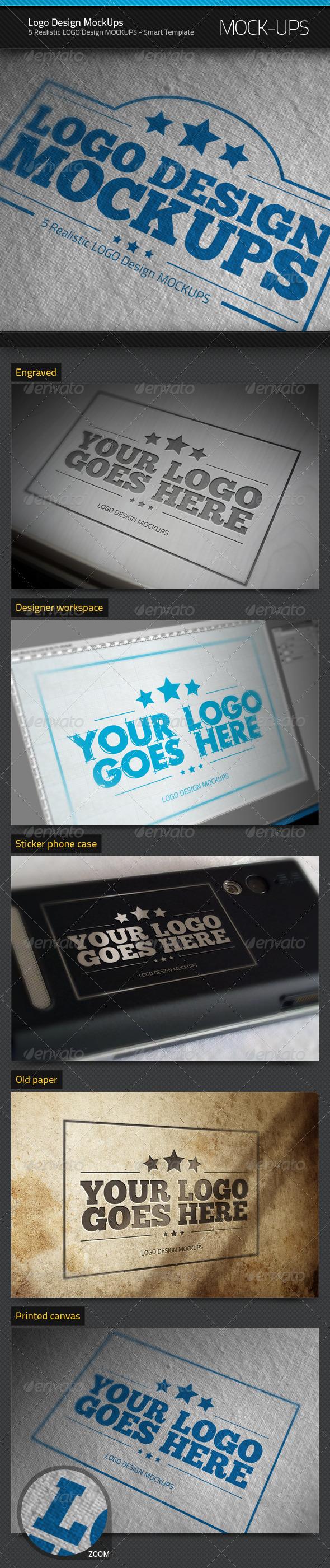 Logo Design MockUps - Logo Product Mock-Ups