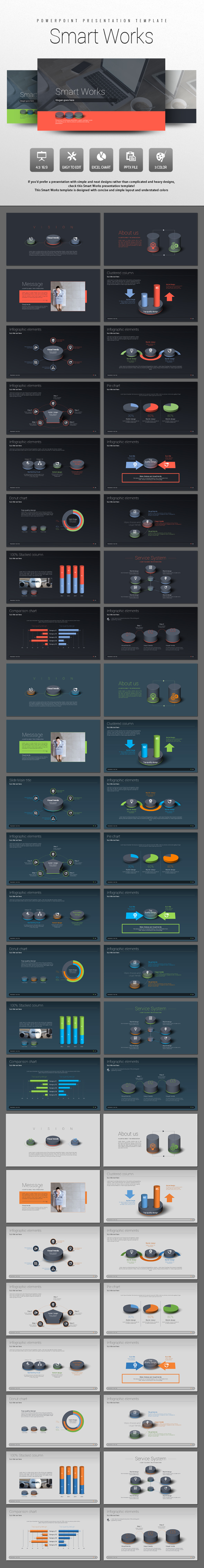 Smart Works - PowerPoint Templates Presentation Templates