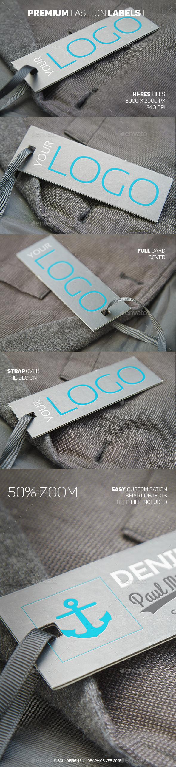 Premium Fashion Labels Mockup II - Logo Product Mock-Ups