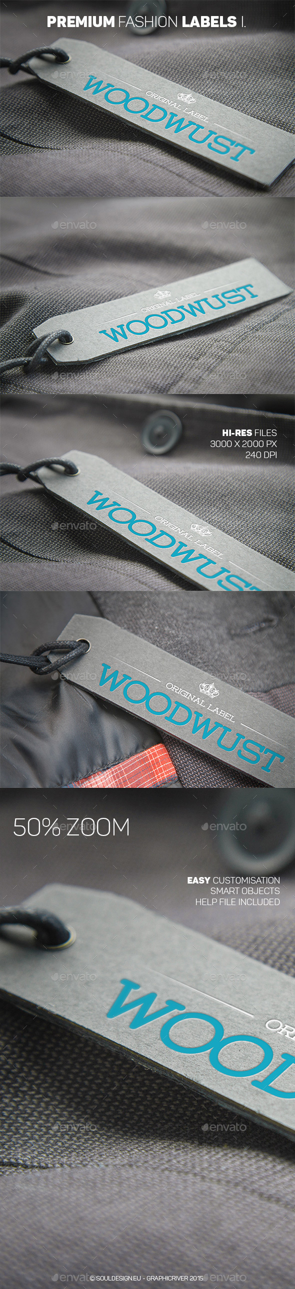 Premium Fashion Labels Mockup I - Logo Product Mock-Ups