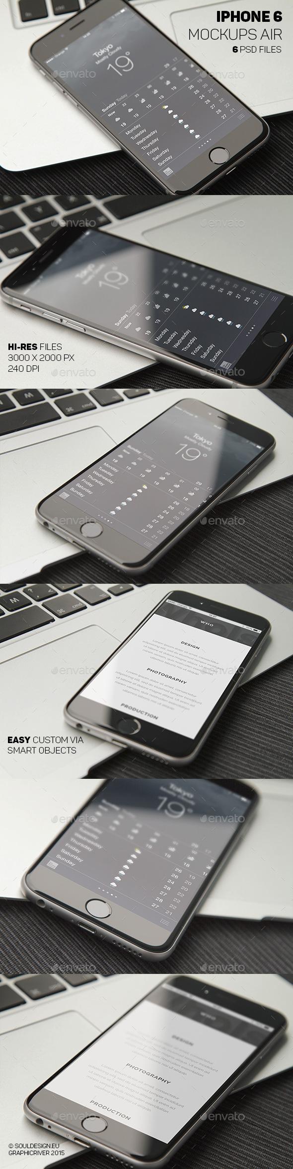 Phone 6 Closeup Mockups Air - Mobile Displays