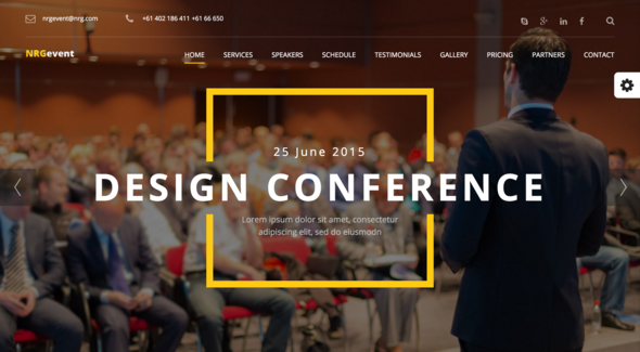 NRGevent – Conference & Event Theme