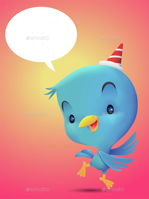 Blue Bird Dancing - Animals Characters