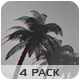 Bottom View Of The Palm Trees - 4 Pack - VideoHive Item for Sale