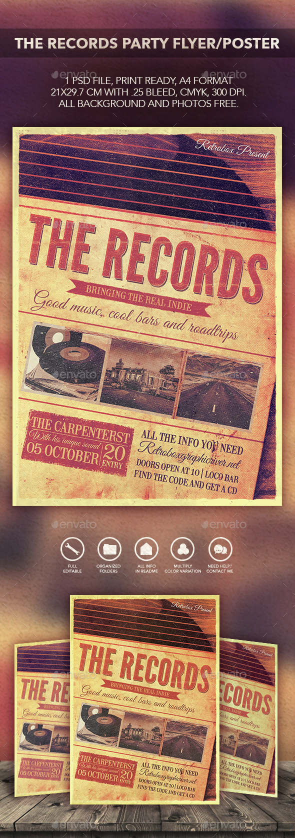 The Records Flyer Poster - Events Flyers