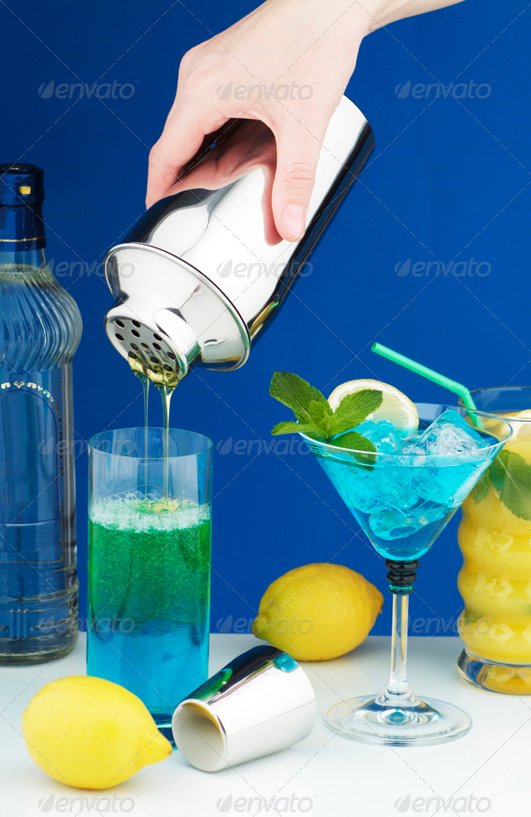Cocktail drinks - Stock Photo - Images