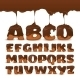 Melting Chocolate  Alphabet Cookies Collection - GraphicRiver Item for Sale
