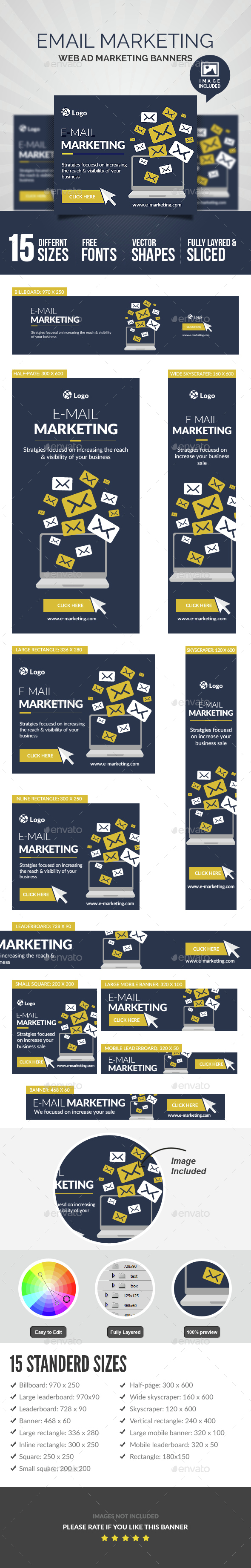 Email Marketing Banner - Banners & Ads Web Elements