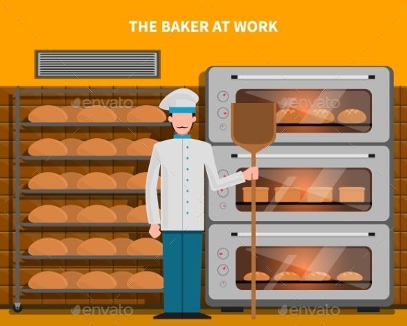 Baker At Work Concept - Decorative Symbols Decorative