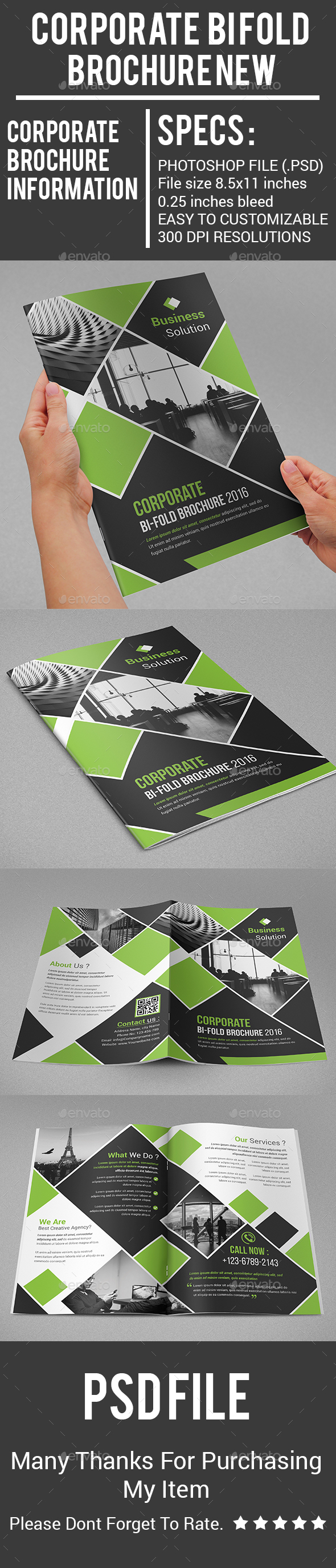 Corporate Bi Fold Brochure New - Corporate Brochures