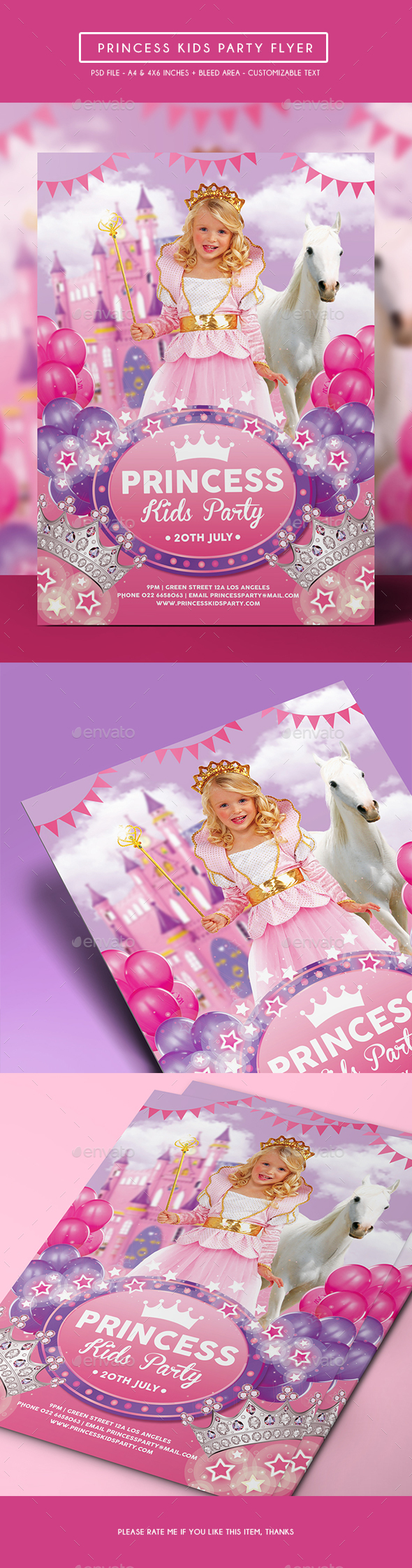 Princess Kids Party Flyer - Clubs & Parties Events