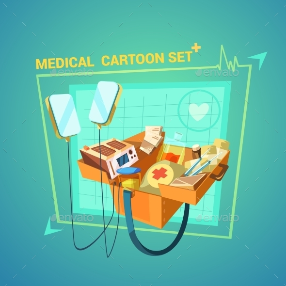 Medical Cartoon Set - Health/Medicine Conceptual