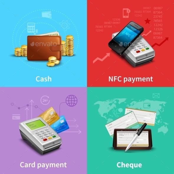 Payment Realistic Set - Business Conceptual