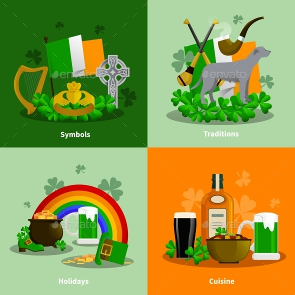 Ireland 2X2 Design Concept Set  - Abstract Conceptual