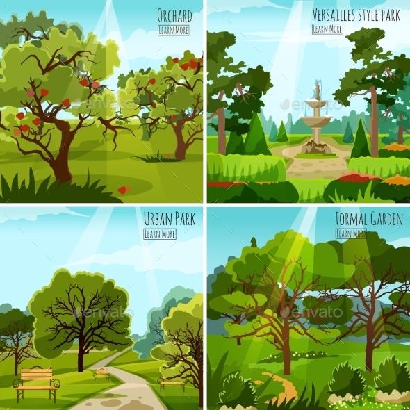 Garden Landscape 2X2 Design Concept - Landscapes Nature