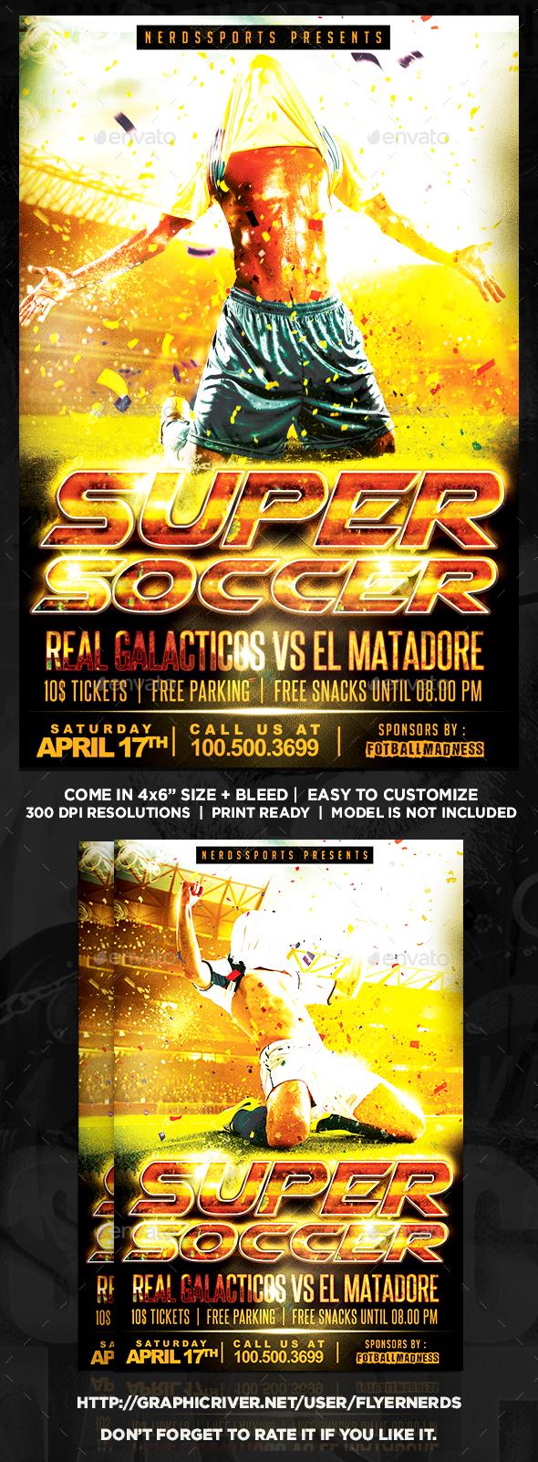 Super Soccer Final Sports Flyer - Sports Events