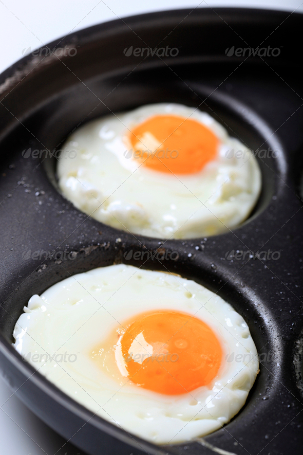 Fried eggs - Stock Photo - Images