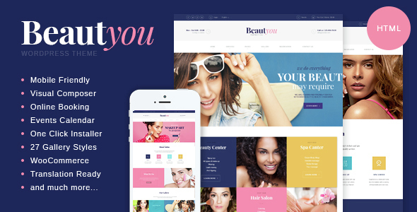 Beauty, Hair & Spa Salon HTML Template - Health & Beauty Retail