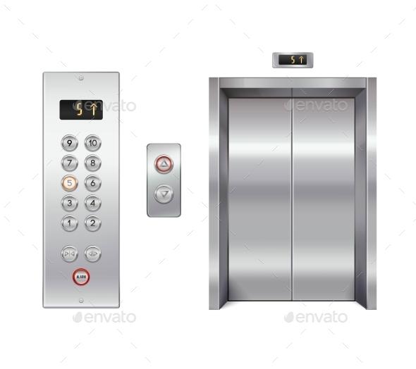 Elevator Design Set - Decorative Symbols Decorative