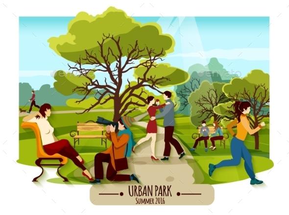 Garden Landscape Poster - Landscapes Nature