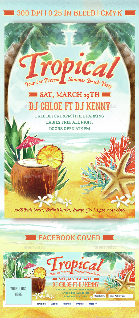 Tropical Beach Summer Party - Clubs & Parties Events