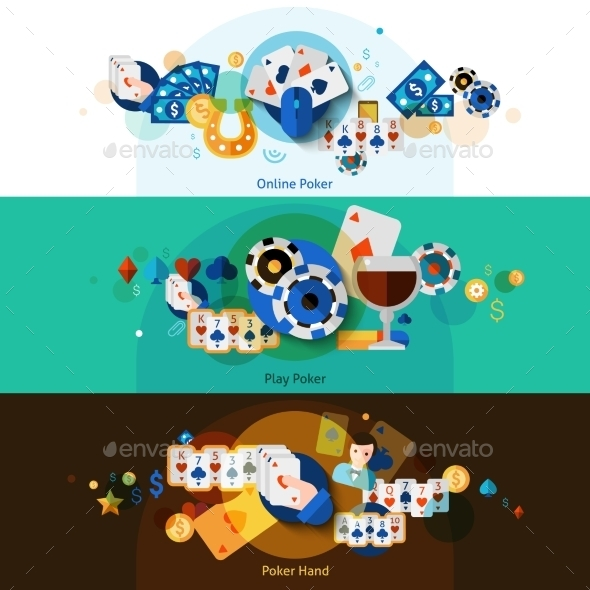 Poker Banners Set  - Business Conceptual