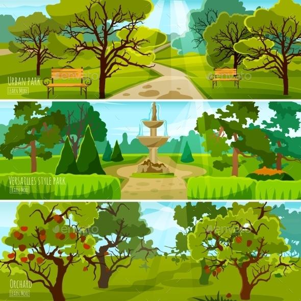 Garden Landscape Banners - Landscapes Nature