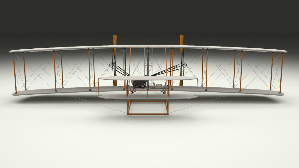 Animated Wright Flyer 1903 - 3DOcean Item for Sale